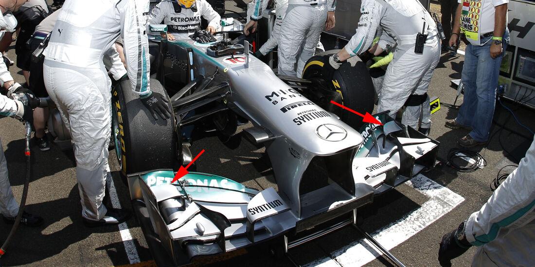 Mercedes - Technik - GP Ungarn 2013