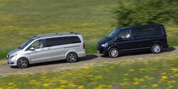 Mercedes V 250 Bluetec, VW Multivan 2.0 BiTDI BMT, Seitenansicht