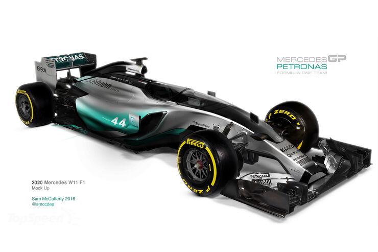 Mercedes W11 - F1 Concept 2020 - Cockpitschutz Kanzel - Formel 1