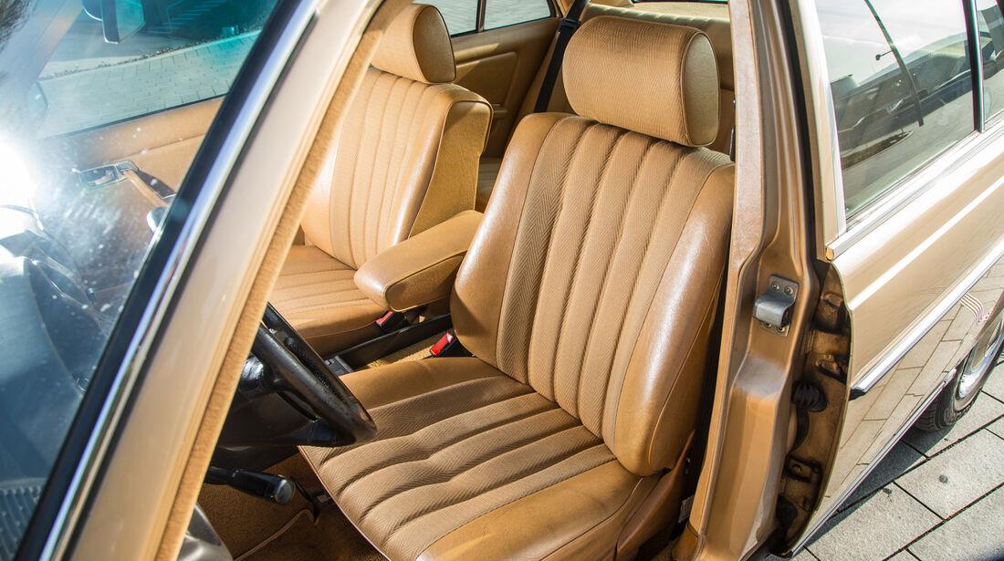 Mercedes W123, Fahrersitz