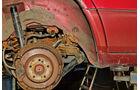 Mercedes W124, Radhäuser hinten