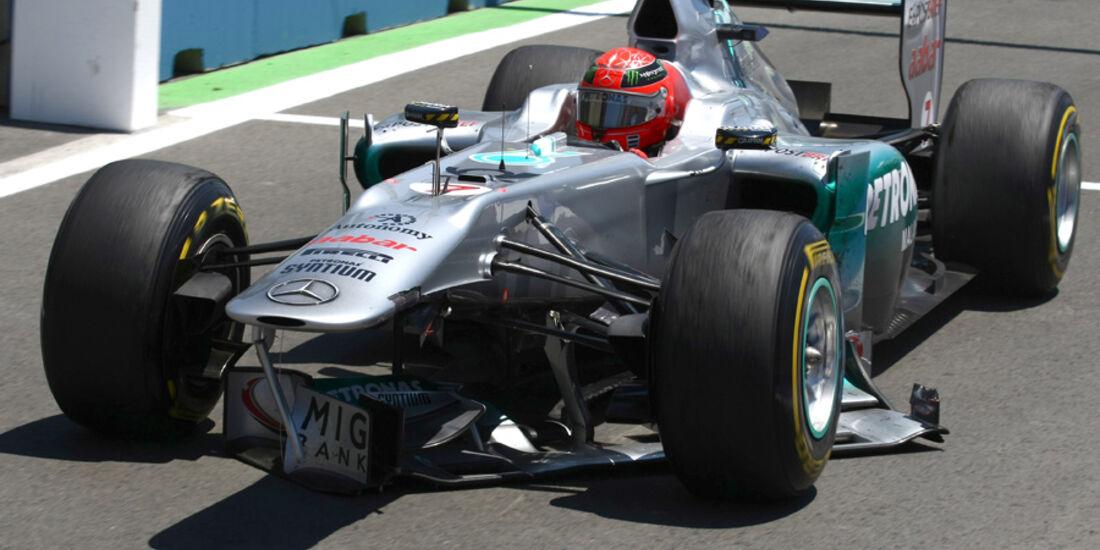 Michael Schumacher GP Europa Crashs 2011