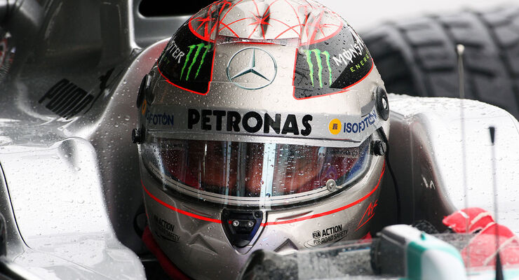 Michael Schumacher Helm Platin Spa 2012