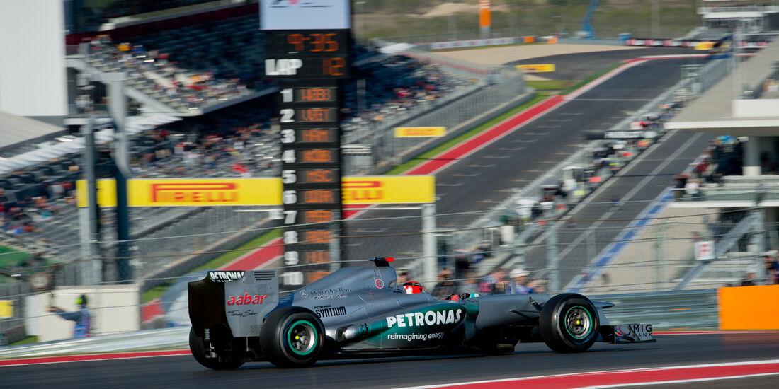 Michael Schumacher - Mercedes - Formel 1 - GP USA - Austin - 16. November 2012