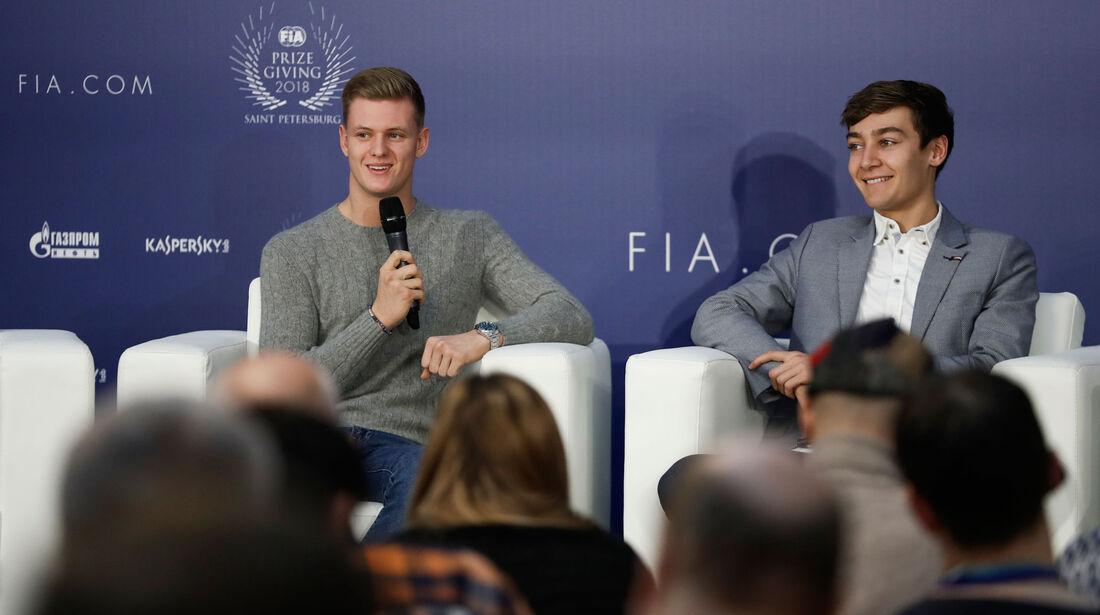 Mick Schumacher - George Russell - FIA - Preisverleihung - St. Petersburg