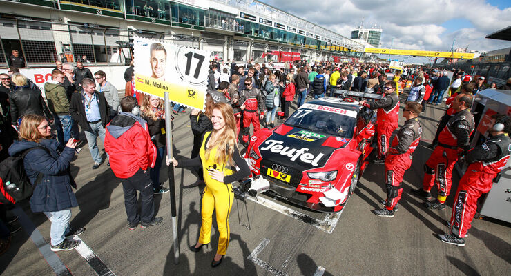 Miguel Molina - Audi - DTM - Nürburgring - 2. Rennen - Sonntag - 27.9.2015