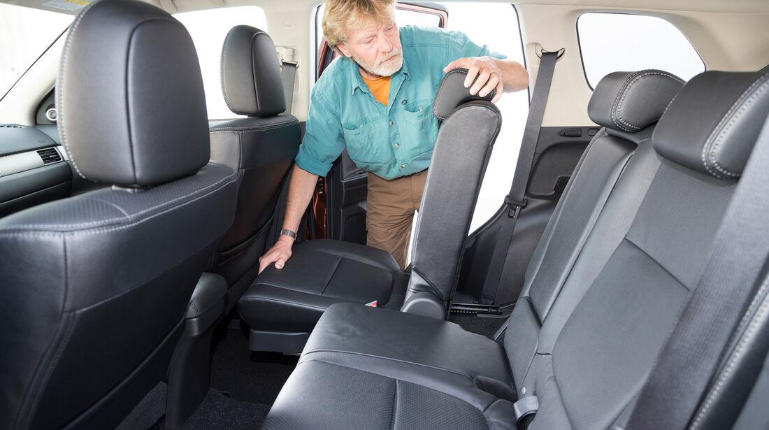 Mitsubishi Outlander 2.2 Di-D 4W, Rücksitz, umklappen