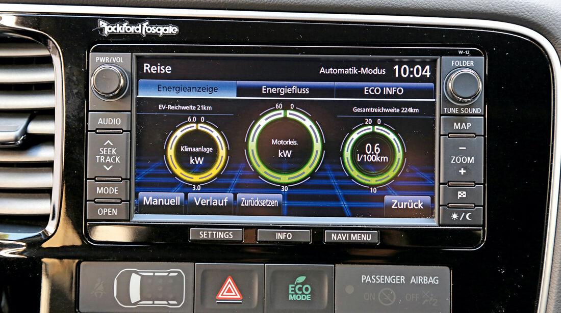 Mitsubishi Outlander PHEV, Motoren, Elektro