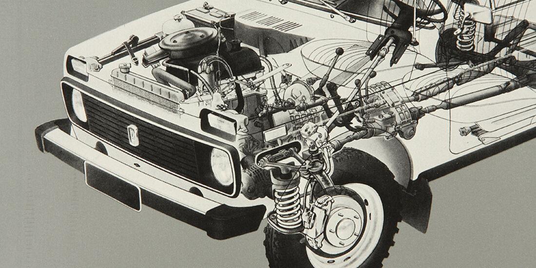 Motorraum Lada Niva
