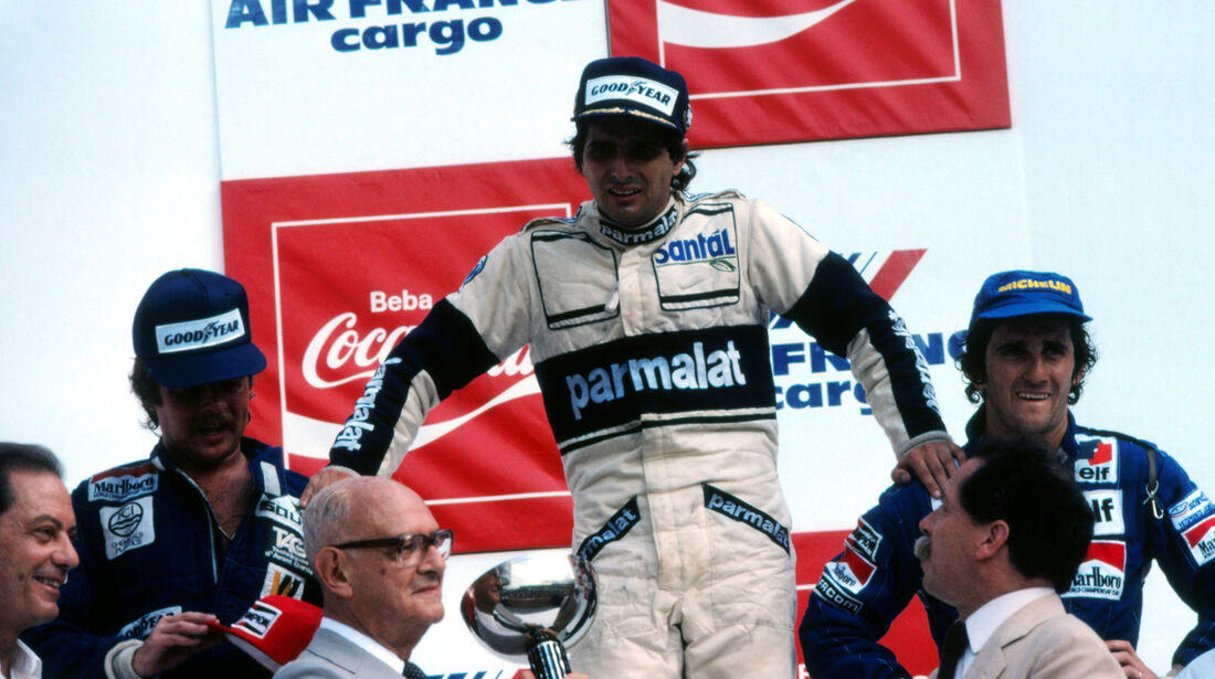 Nelson Piquet - Brabham - Keke Rosberg - Williams - Alain Prost - Renault - GP Brasilien 1982 - Rio