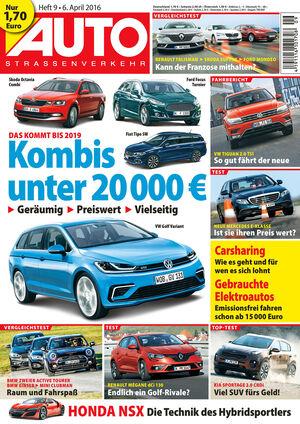 Neues Heft AUTOStraßenvekehr, Ausgabe 9/2016, Vorschau