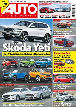 Neues Heft AutoStraßenverkehr, Ausgabe 10/2016, Vorschau