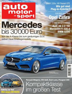 Neues Heft auto motor und sport, Ausgabe 08/2016, Vorschau, Preview