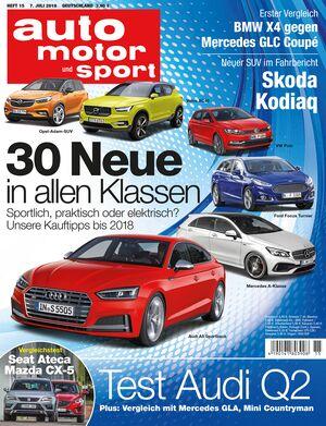 Neues Heft auto motor und sport, Ausgabe 15/2016, Vorschau, Preview