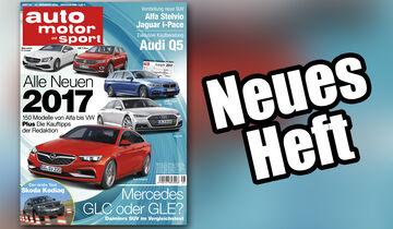 Neues Heft auto motor und sport, Ausgabe 25/2016, Vorschau, Preview