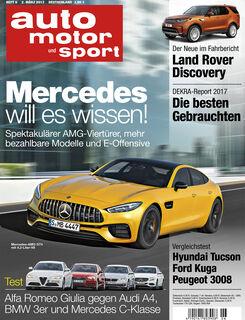 Neues Heft auto motor und sport, Ausgabe 6/2017, Vorschau