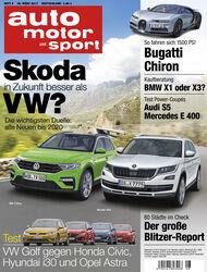 Neues Heft auto motor und sport, Ausgabe 8/2017, Vorschau, Preview