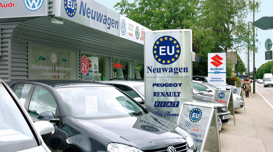 Neuwagen, Verkauf, verschiedene Modelle