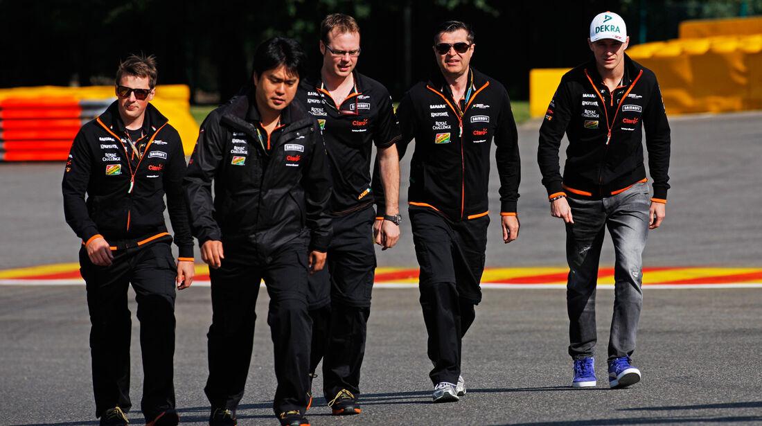 Nico Hülkenberg - Force India - Formel 1 - GP Belgien - Spa-Francorchamps - 21. August 2014