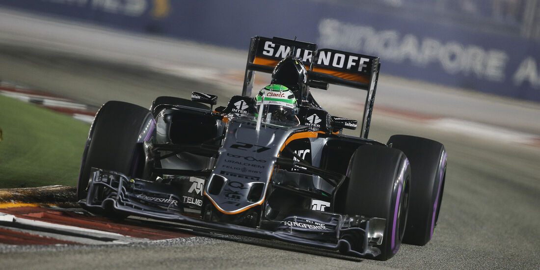 Nico Hülkenberg - Force India - Formel 1 - GP Singapur - 17. September 2016