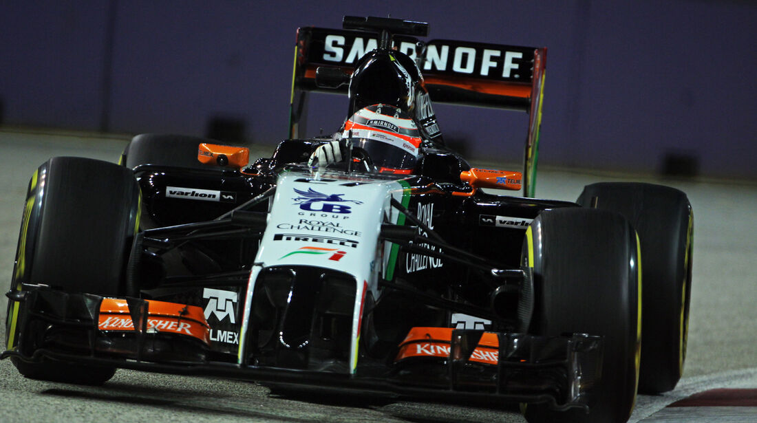 Nico Hülkenberg - Force India - Formel 1 - GP Singapur - 19. September 2014