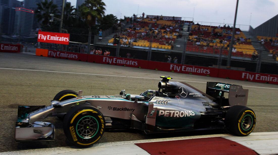 Nico Rosberg - Mercedes - Formel 1 - GP Singapur - 19. September 2014