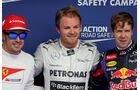 Nico Rosberg Sebastian Vettel Fernando Alonso - Formel 1 - GP Bahrain - 20. April 2013