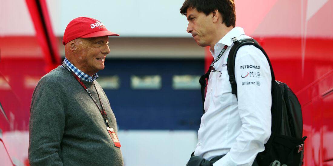 Niki Lauda & Toto Wolff - Formel 1 - GP Deutschland - 6. Juli 2013