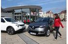 Nissan Juke 1.5 dCi, Renault Captur dCi 90, Frontansicht