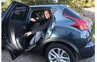 Nissan Juke, Rücksitz, Aussteigen