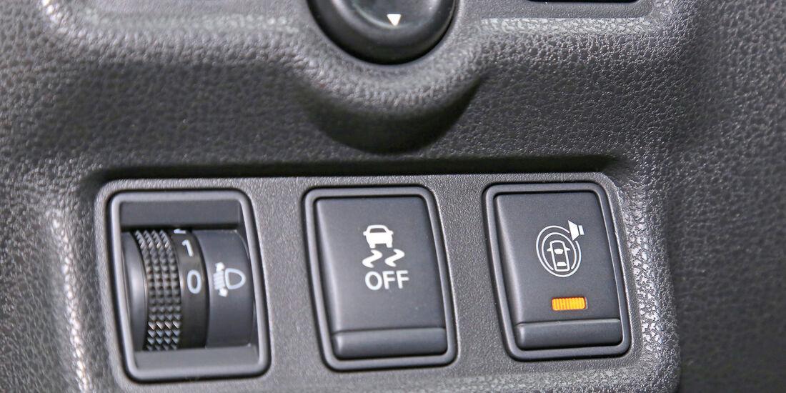 Nissan Note 1.5 dCi, Bedienelemente