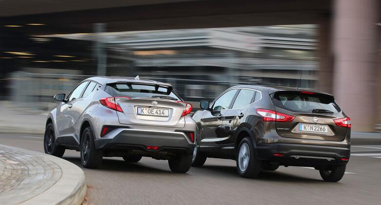 Nissan Qashqai 1.2 DIG-T, Toyota C-HR 1.2 T,