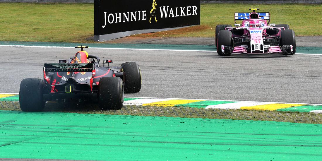 Ocon vs. Perez - Formel 1 - GP Brasilien 2018