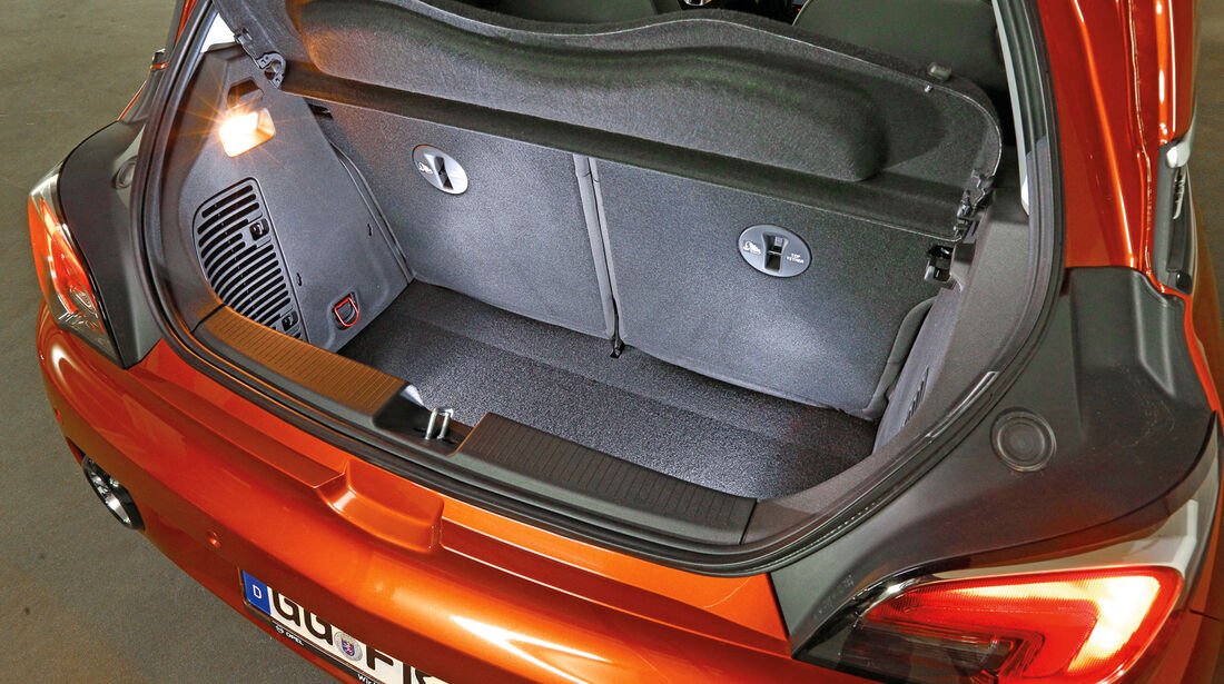Opel Adam, Rücksitzlehne, Zweigeteilt