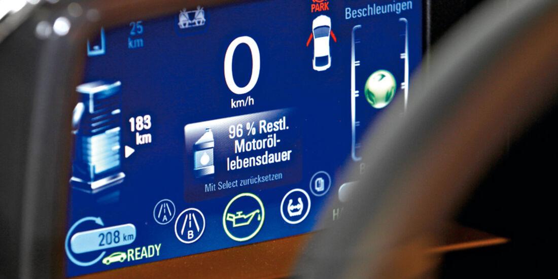 Opel Ampera, Bildschirm, Symbole