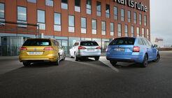 Opel Astr Sports Tourer 1.4 DI Turbo Innovation, Skoda Octavia Combi 1.5 TSI ACT Style, VW Golf Variant 1.5 TSI ACT Highline, Exterieur