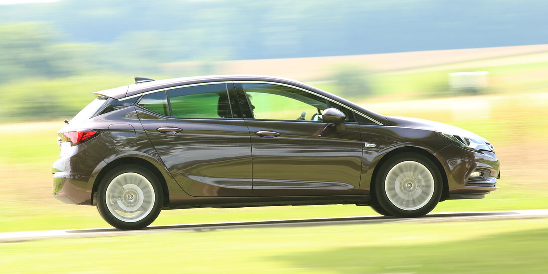 Opel Astra 1.0 DI Turbo, Seitenansicht
