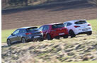 Opel Astra OPC, Seat Leon SC Cupra 280, VW Golf R, Heckansicht