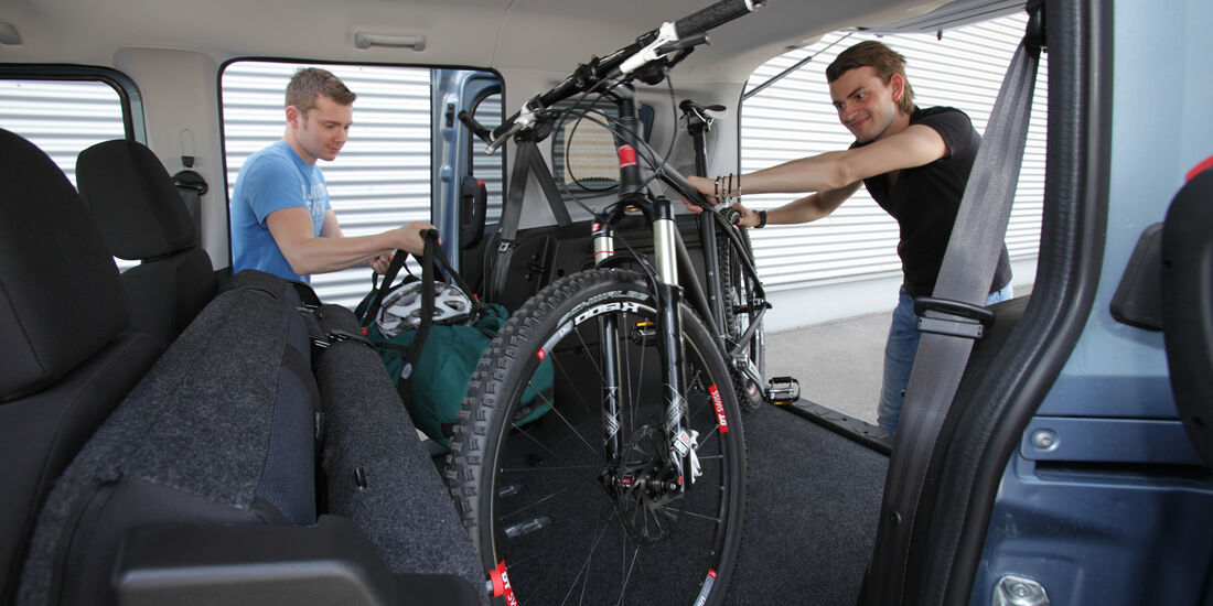 Opel Combo, Kofferraum, Fahrrad