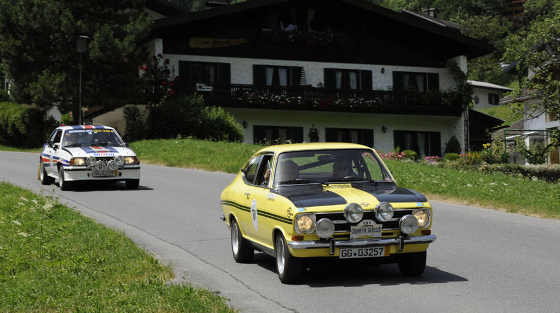 Opel Kadett und Opel Ascona 400 bei der Silvretta Classic 2010