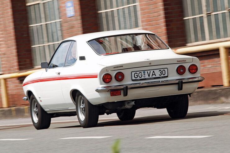 Opel Manta, Heckansicht
