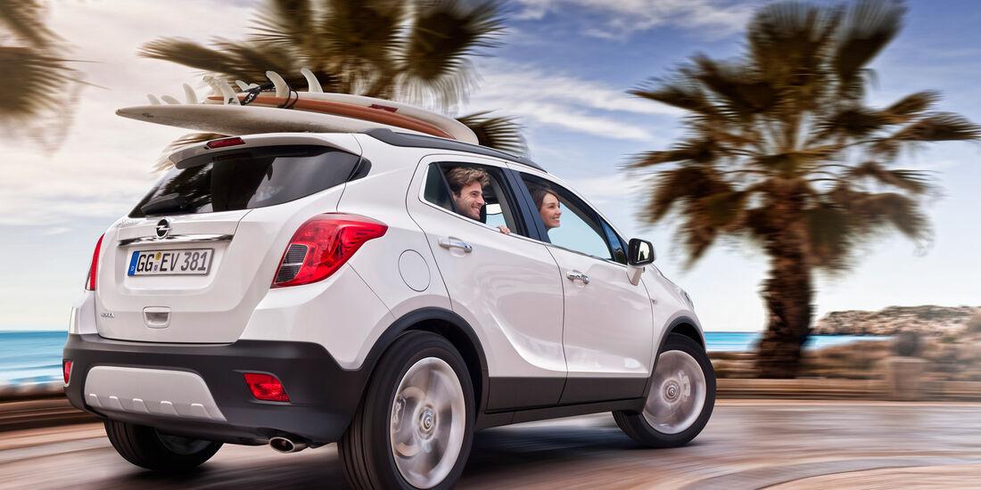 Opel Mokka, Heck, Kurvenfahrt