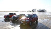 Opel Mokka, Mini Countryman, Nissan Juke, Frontansicht