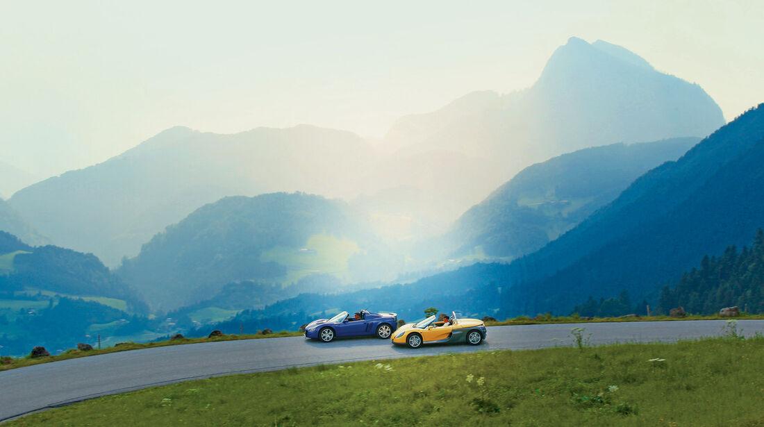 Opel Speedster, Renault Sport Spider, Seitenansicht