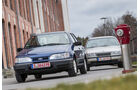 Opel Vectra 2.0i, Ford Sierra 2.0i, Frontansicht