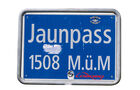 Passstraßen, Passname, Straßenschild