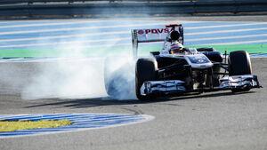 Pastor Maldonado Williams F1 Test Jerez 2013 Highlights