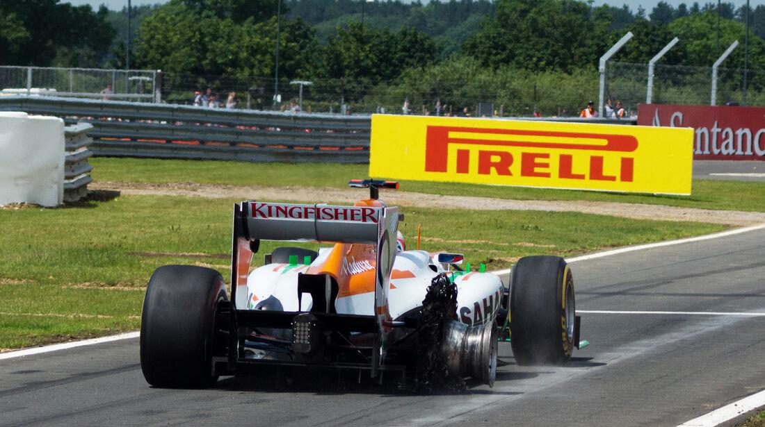 Paul Di Resta Force India GP England 2012