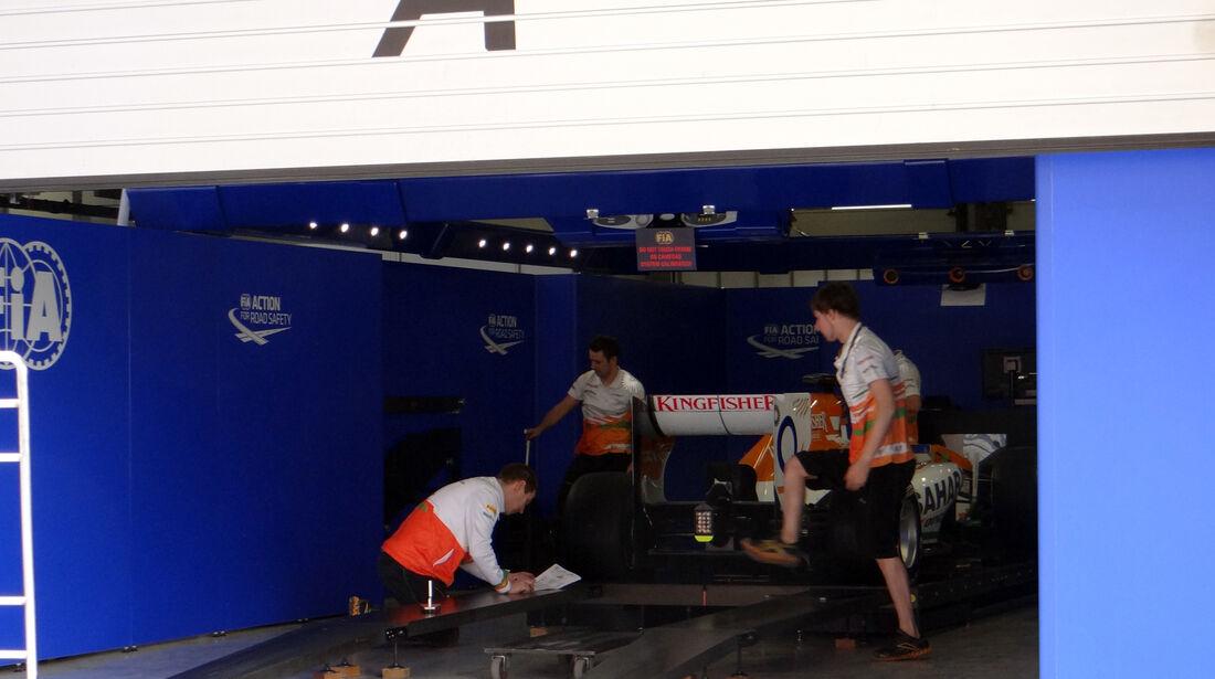 Paul di Resta - Force India - Technische Abnahme - Formel 1 - GP China - 11. April 2013