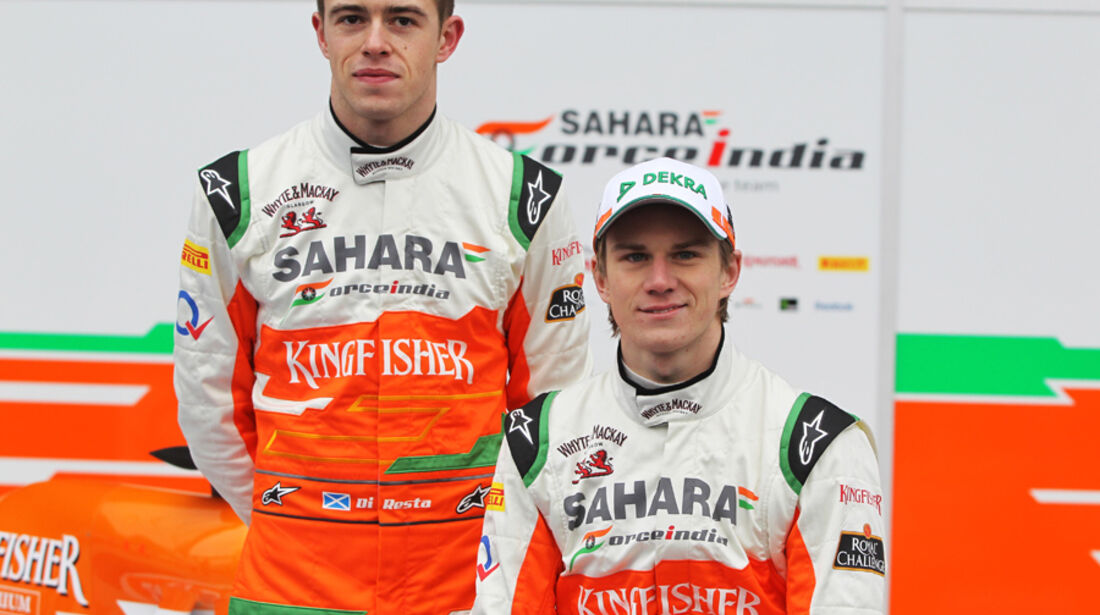 Paul di Resta & Nico Hülkenberg Force India 2012